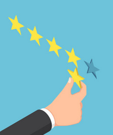Un main dépose la cinquième étoile manquante pour être parfait