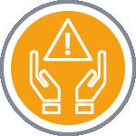 Icône formation prévention jaune