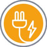 Icône habilitation électrique jaune