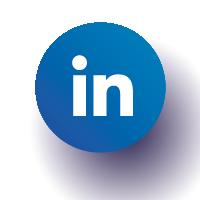 Icône LinkedIn bleu