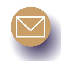 Icône rond avec une enveloppe pour la boite mail
