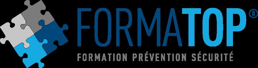 """Logo formation avec son slogan : \""""Formation Prévention Sécurité\"""""""
