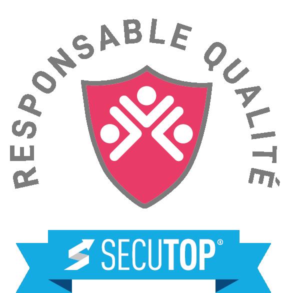 Logo responsable qualité rose