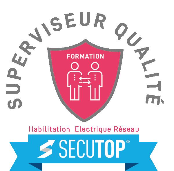 Logo superviseur qualité rose