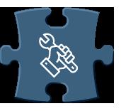 Pièce puzzle représentant la partie maintenance industrielle