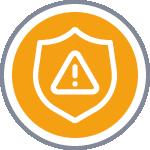 Icône risques spécifiques jaune